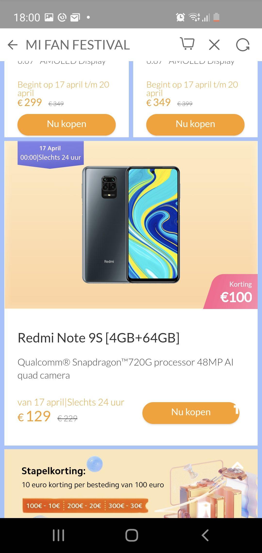 Xiaomi note 9s 4gb+64gb