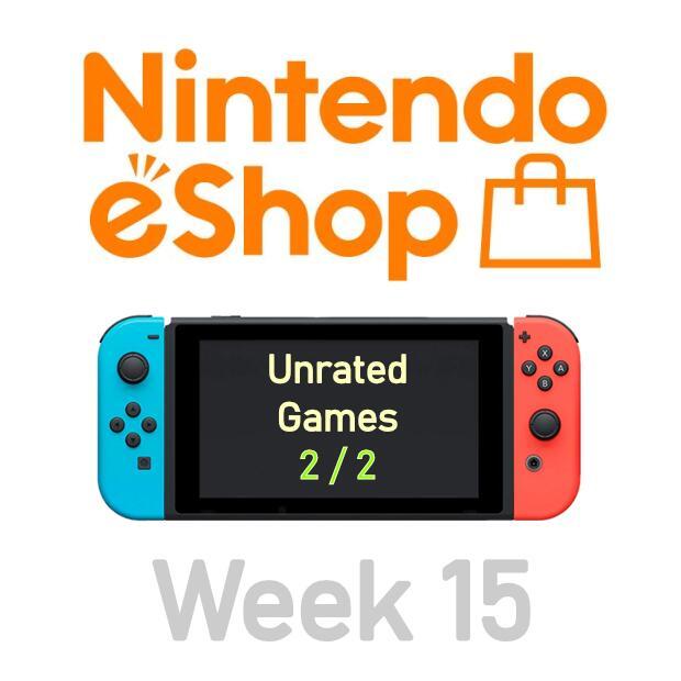 Nintendo Switch eShop aanbiedingen 2021 week 15 (deel 3/3) games zonder Metacritic score (deel 2/2)