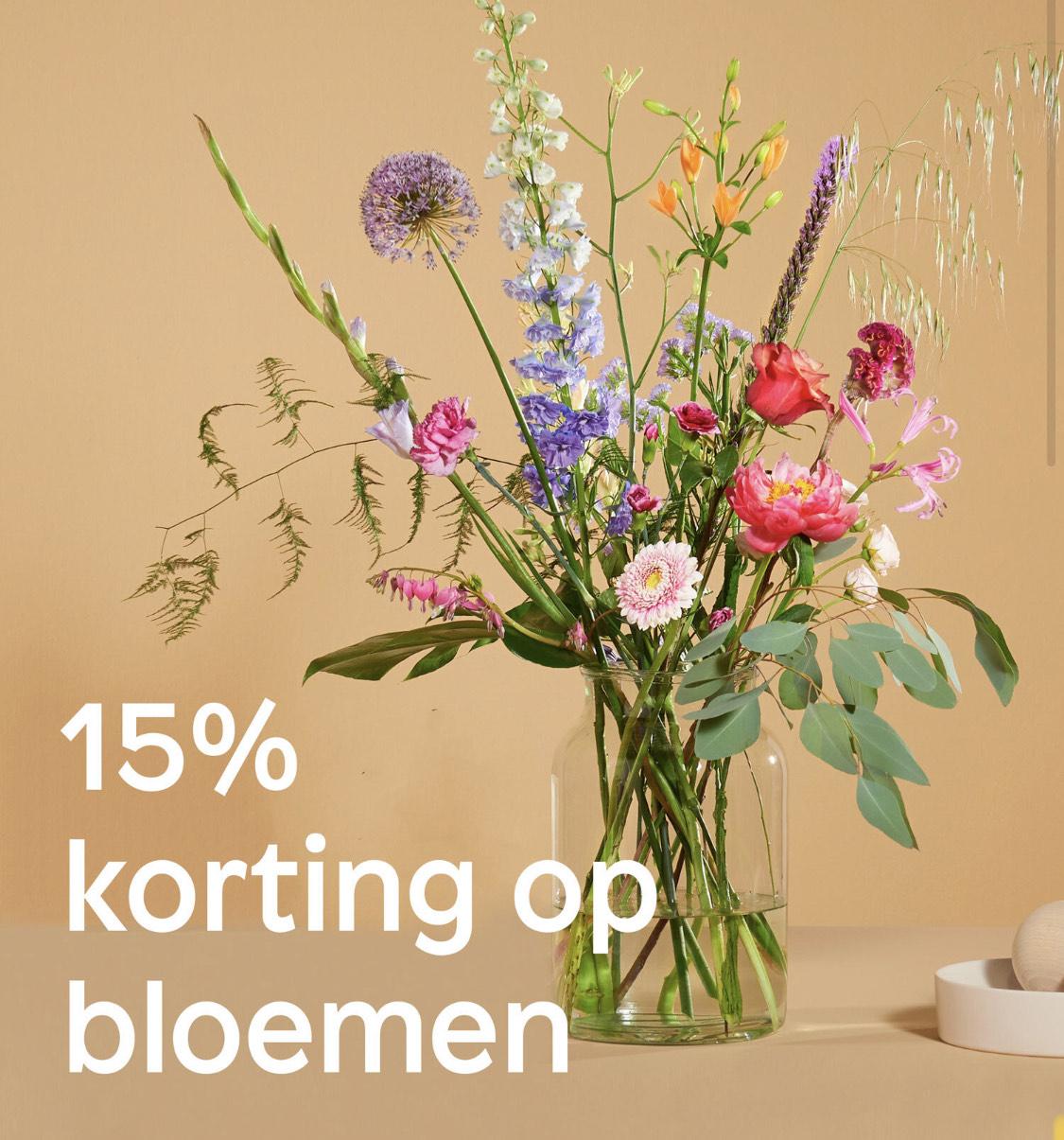 15% korting in de floral shop van Bloomon