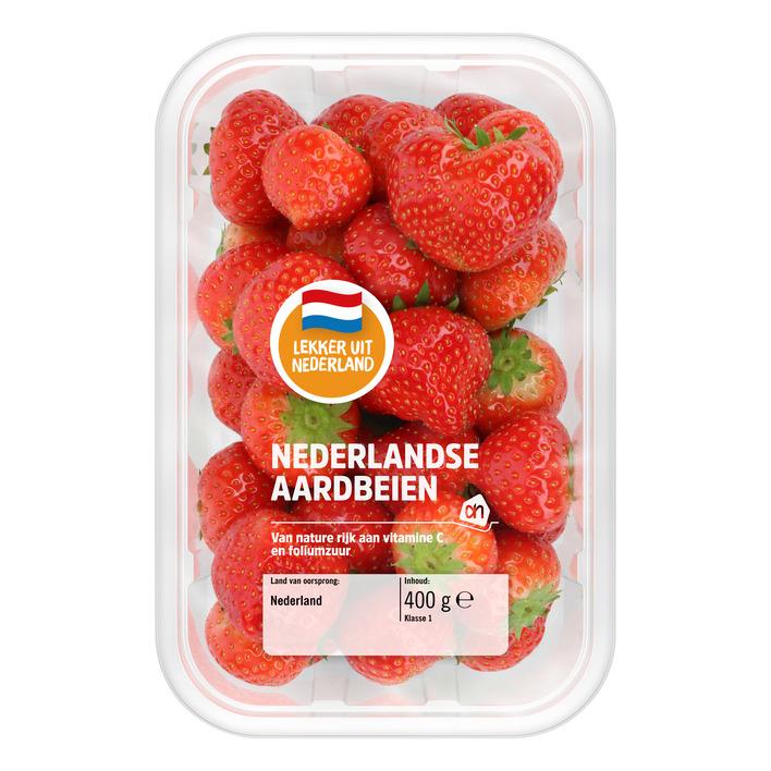 Nederlandse aardbeien 2 bakken á 400 gram voor € 4,99 @ Albert Heijn