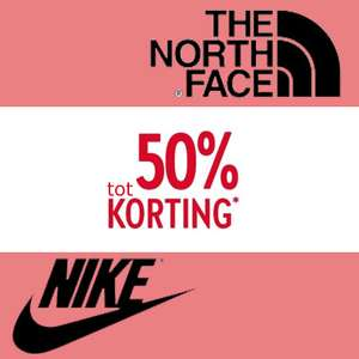 SALE: Nike // The North Face + gratis verzending t.w.v. €3,95