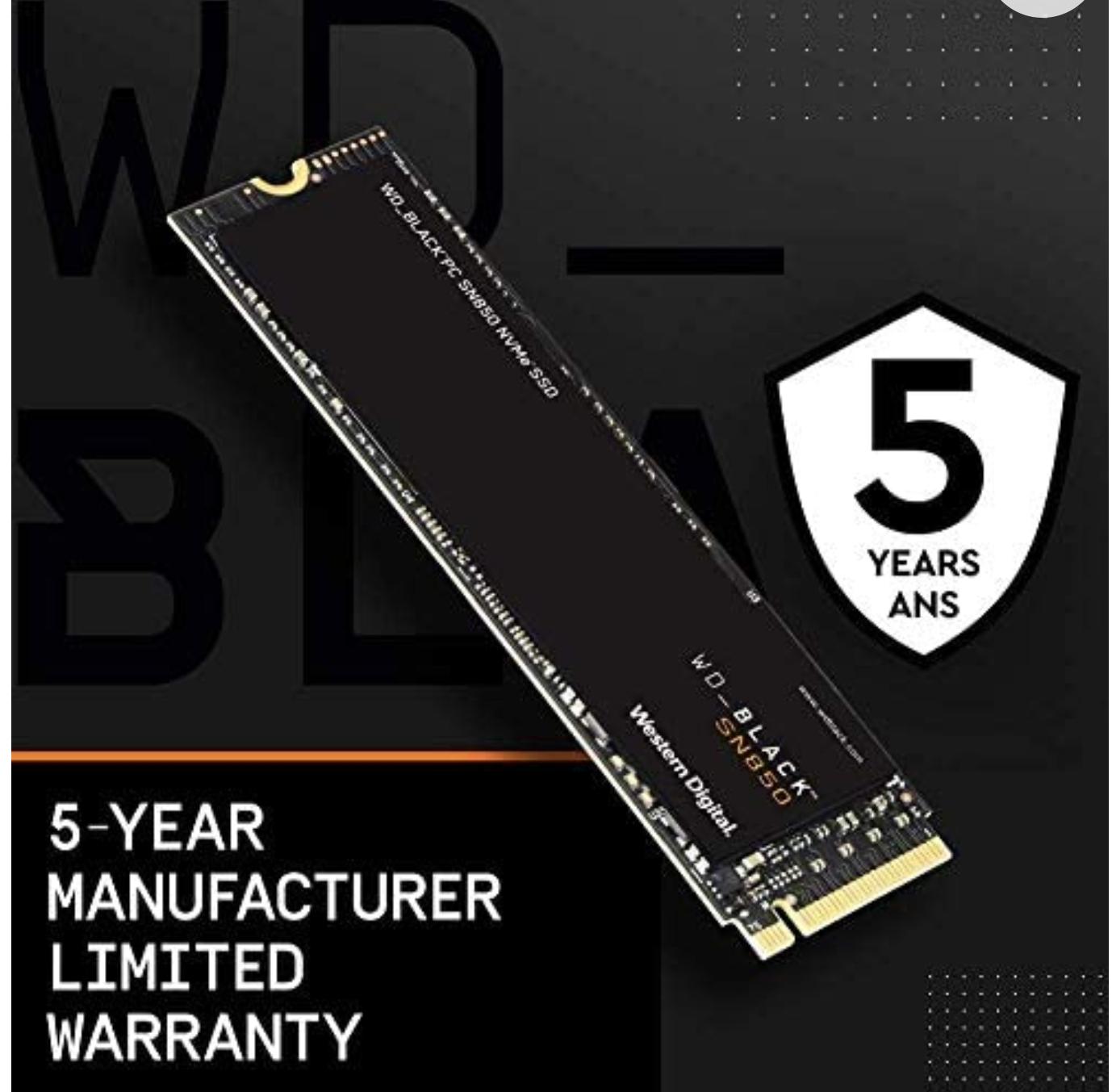 WD Black NVMe PCIe-4.0 SSD SN850 1TB (zonder heatsink)