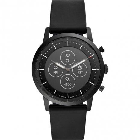 Fossil Collider Hybrid HR FTW7010 - Smartwatch Heren - 42 mm - Zwart