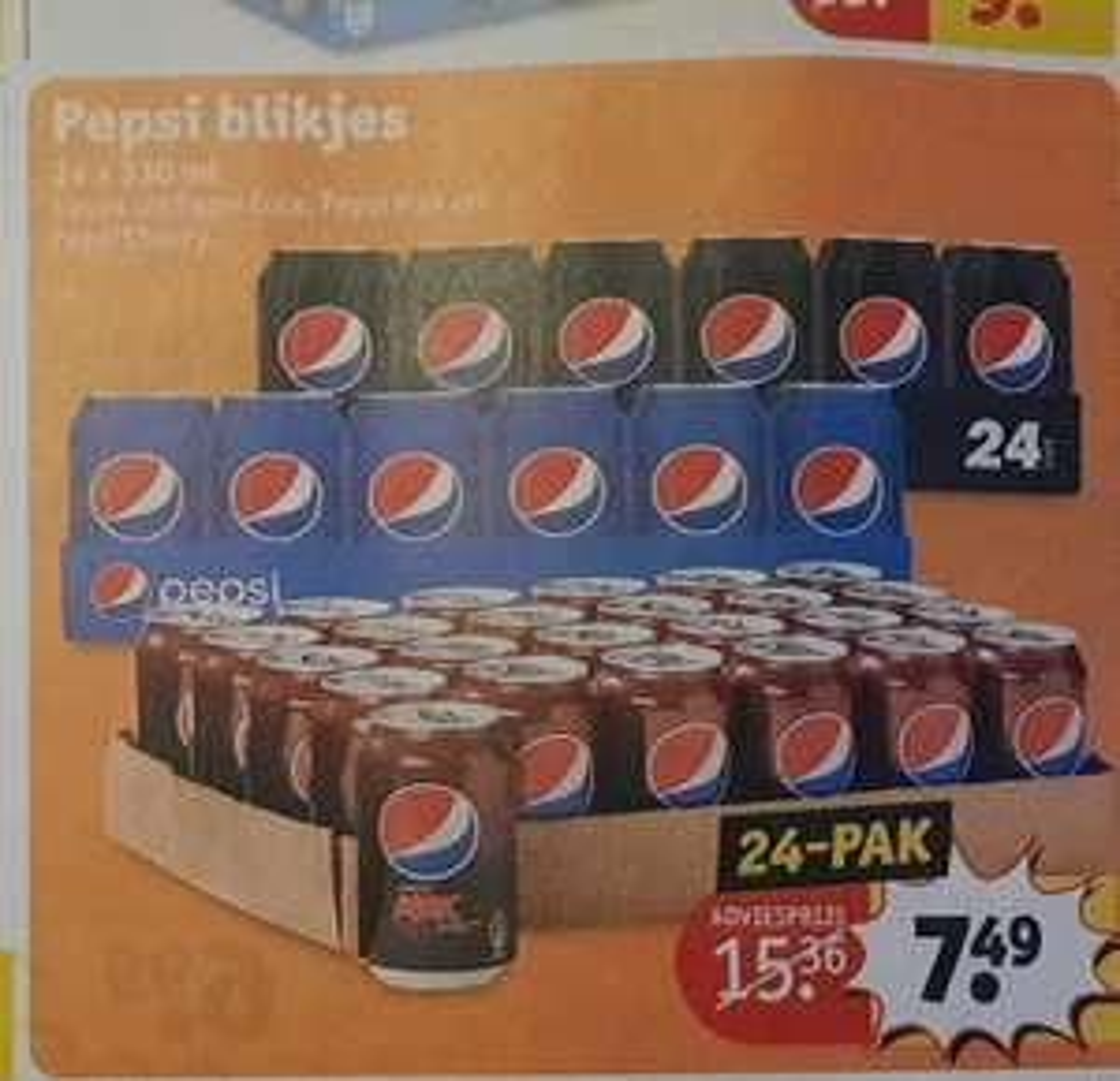 Pepsi blikjes 24 x 330 ml