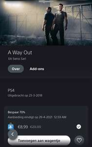 [PS4/PS5] [Digitaal] A Way Out