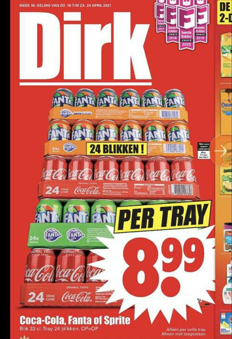 Dirk van den Broek: Tray coca cola / fanta / Sprite voor 8,99