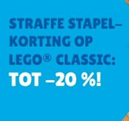 GRENSDEAL [BE] stapelkorting tot 20% op LEGO® Classic