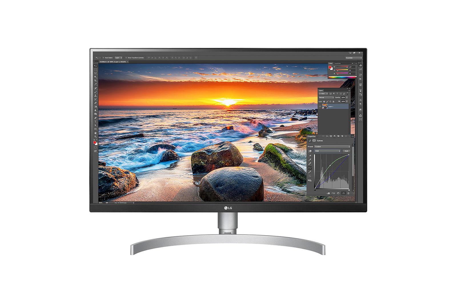 LG 27UL850-W computer monitor 68 6 cm (27inch) 3840 x 2160 Pixels 4K Ultra HD LED Flat Mat Zilver