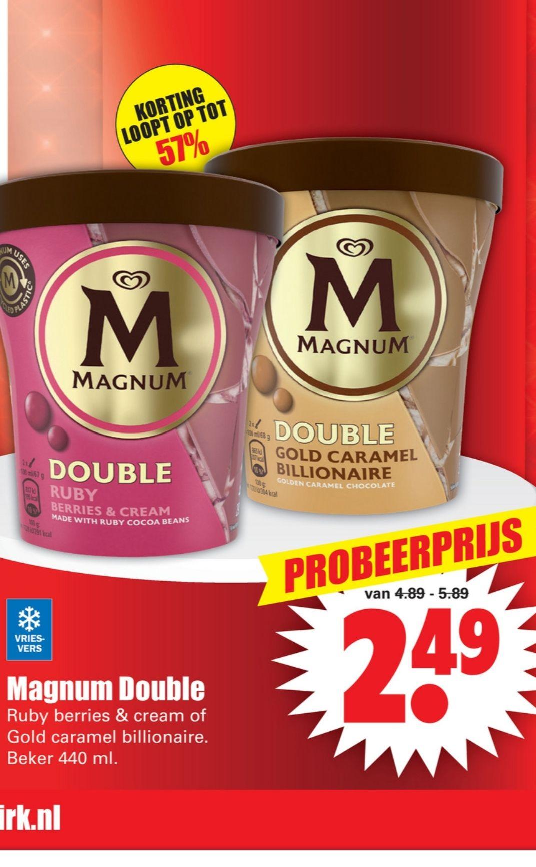 Ola Magnum pint double billionaire + double ruby pint