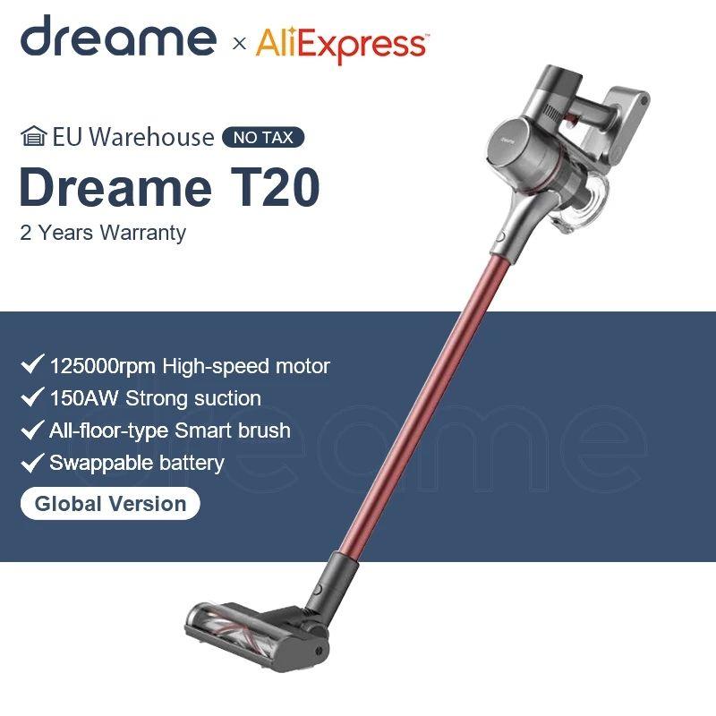 Dreame T20 handheld Draadloze Stofzuiger 25kPa Sterke Zuigkracht Draagbare Alles In Een Borstel Stofafscheider Floor Tapijt Aanzuiger
