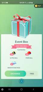 Gratis Pokemon GO Event Box!