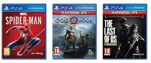 Verschillende PS4 games o.a. Uncharted, God of War, Spider-Man, Horizon