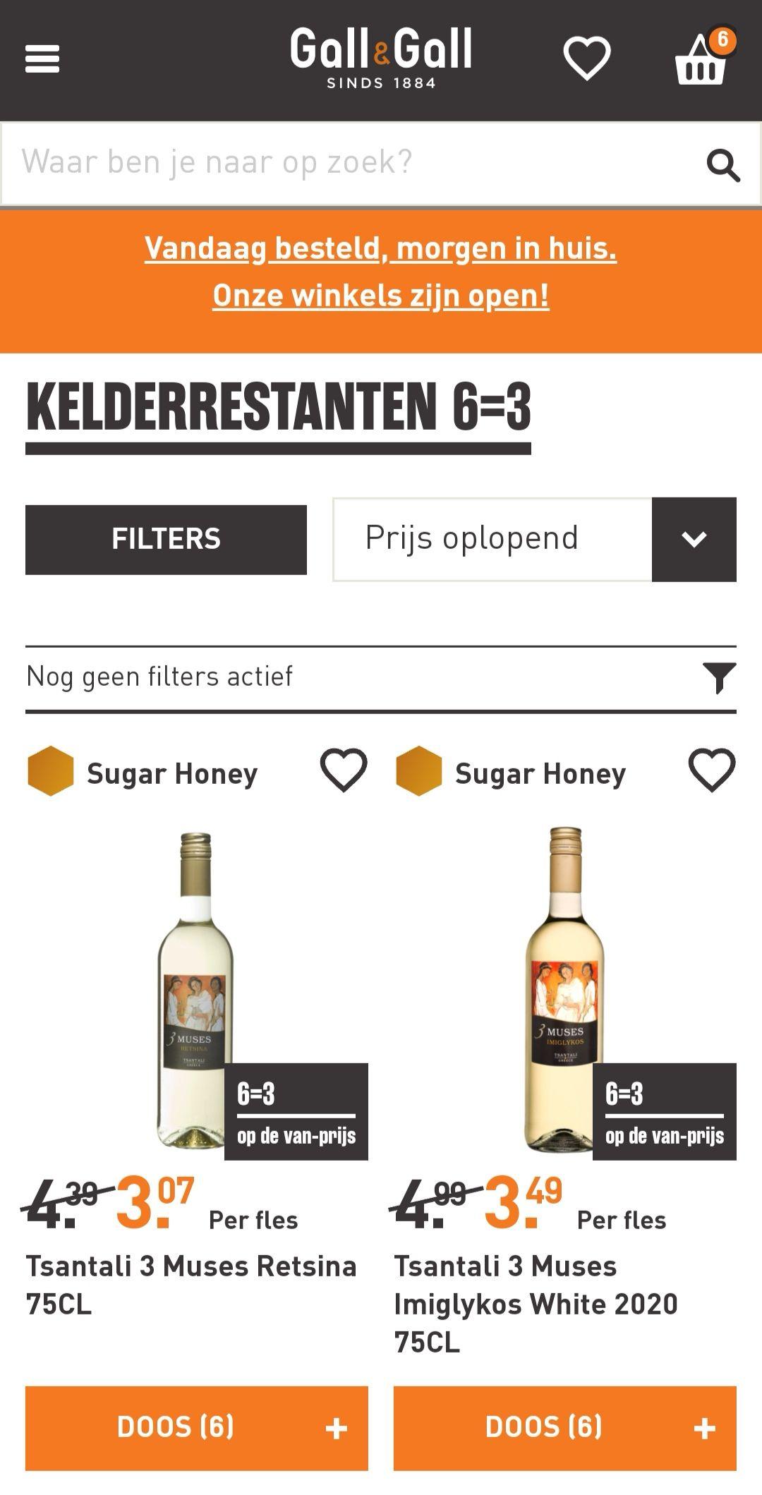 Gall & Gall kelderrestanten diverse wijnen Pick & Mix 6 halen, 3 betalen