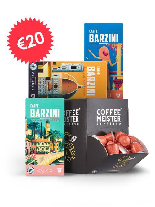 Proefpakket bonen of capsules voor €20 + gratis verzending @ CoffeeMeister
