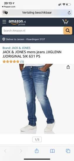 [Plussize] JACK & JONES heren spijkerbroek JJIGLENN JJORIGINAL SIK 631 PS