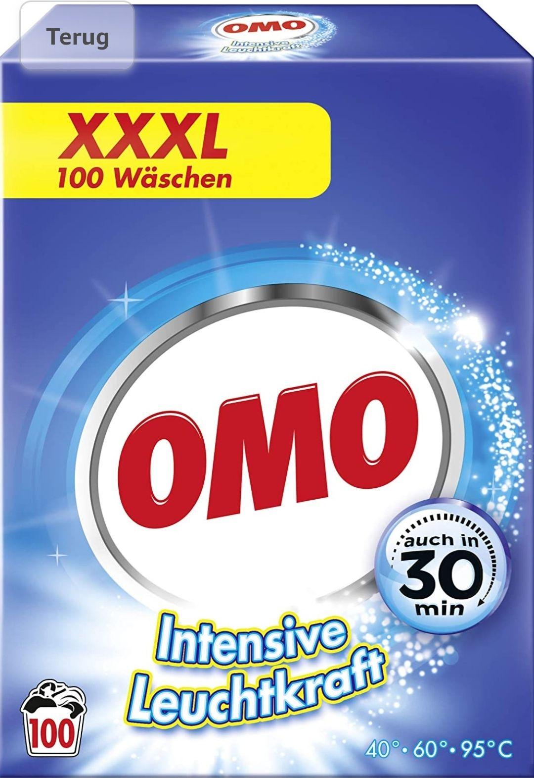 OMO waspoeder 5 x 100 wasbeurten 7kg