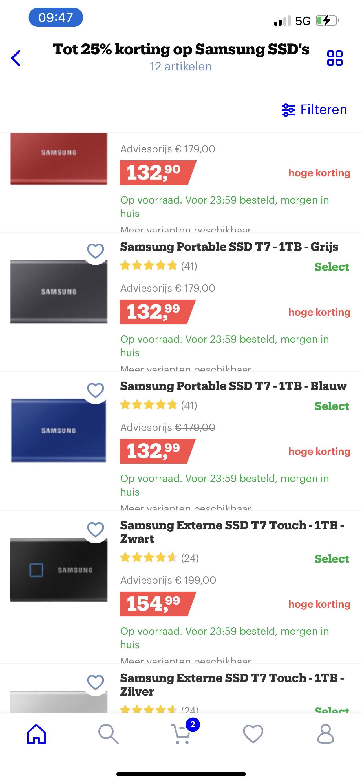 Samsung portable T7 1tb
