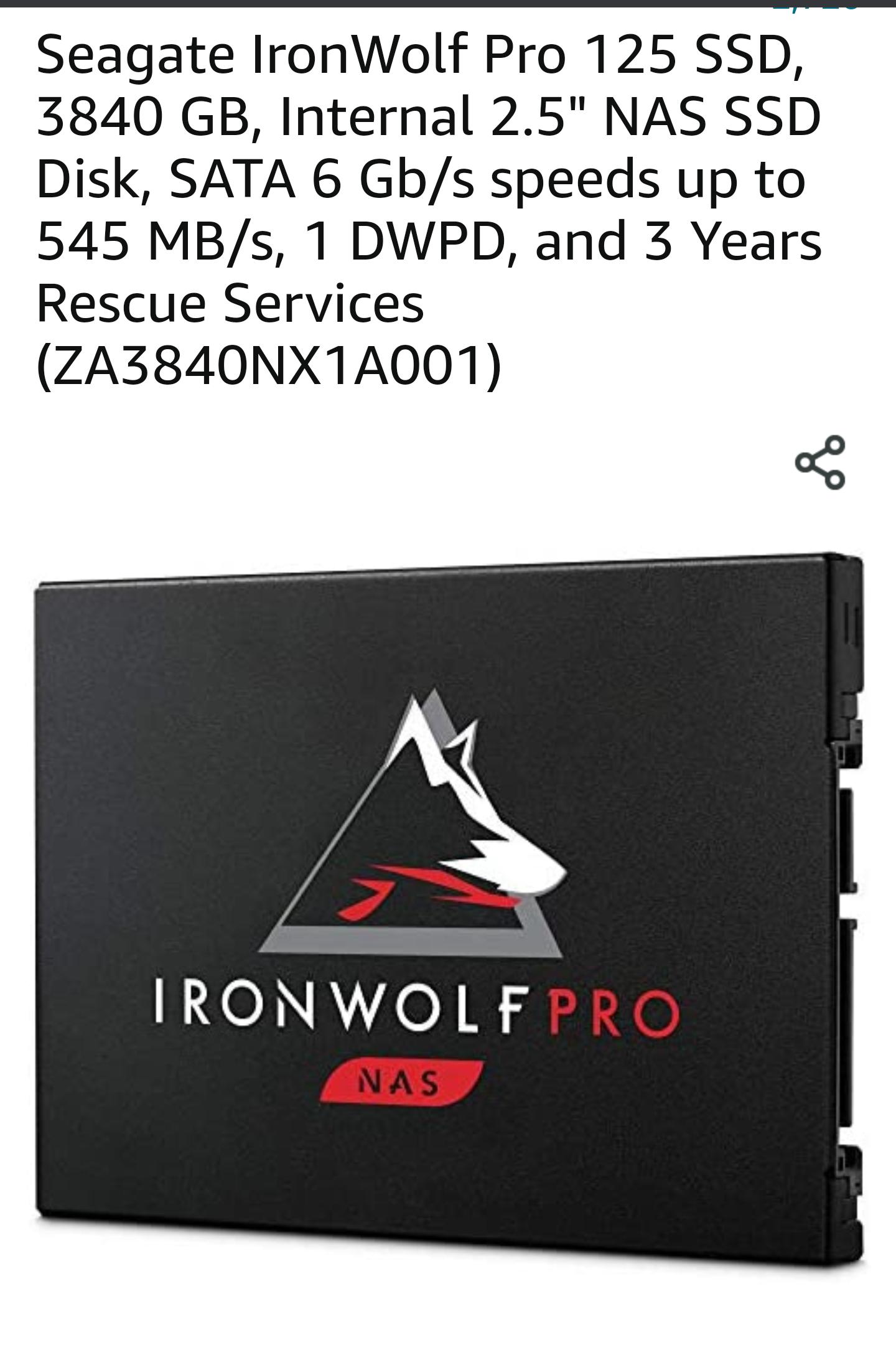 Seagate IronWolf Pro 125 (NAS) SSD 3,84TB
