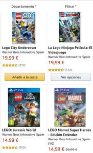 Lego Games (PS4 / Switch / Xbox One) 2 halen 1 betalen @Amazon ES