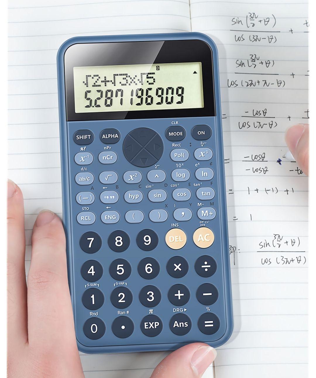 Rekenmachine met wetenschappelijke notatie