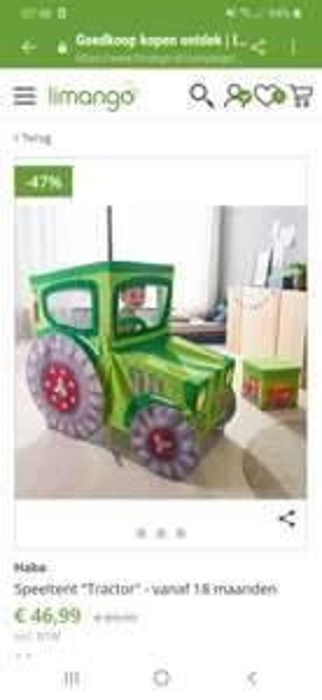 Haba tractor speeltent