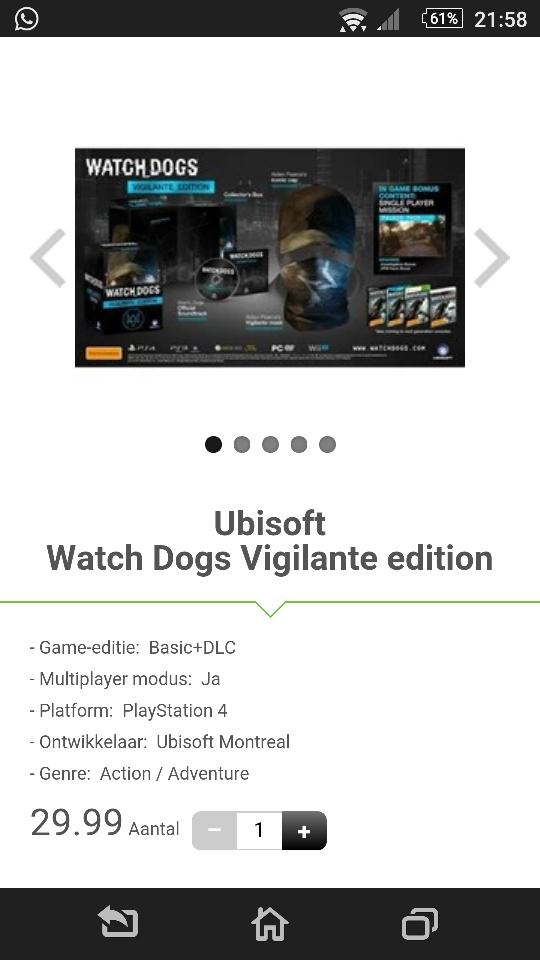 watchdogs vigilante edition (PS4) voor €29,99 @ Dixons