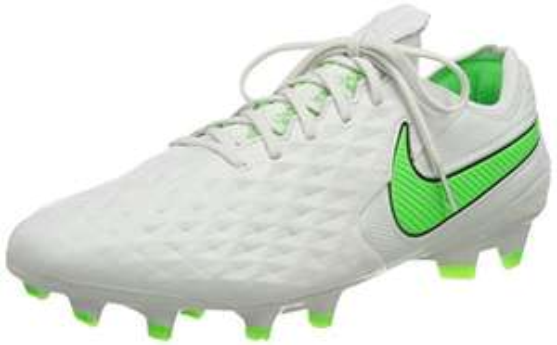 Nike Legend 8 Elite FG voetbalschoenen (Platinum Tint Rage Green)