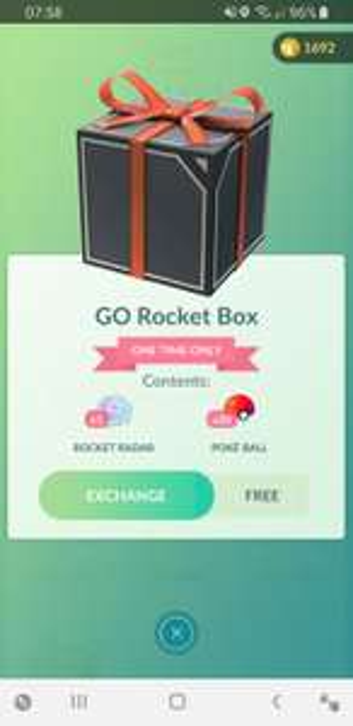 Gratis Pokémon Go Rocket Box