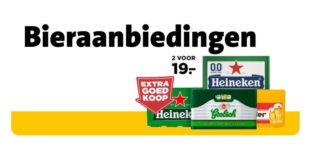 Bieraanbieding Jumbo 2 kratten voor €19,-