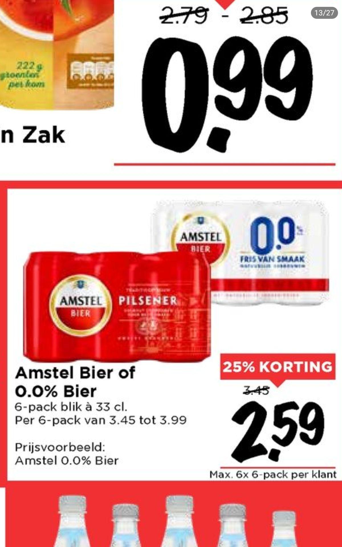 6-pack Amstel bier @vomar