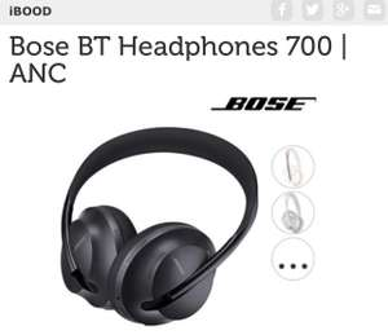 Bose QC 700 - iBood