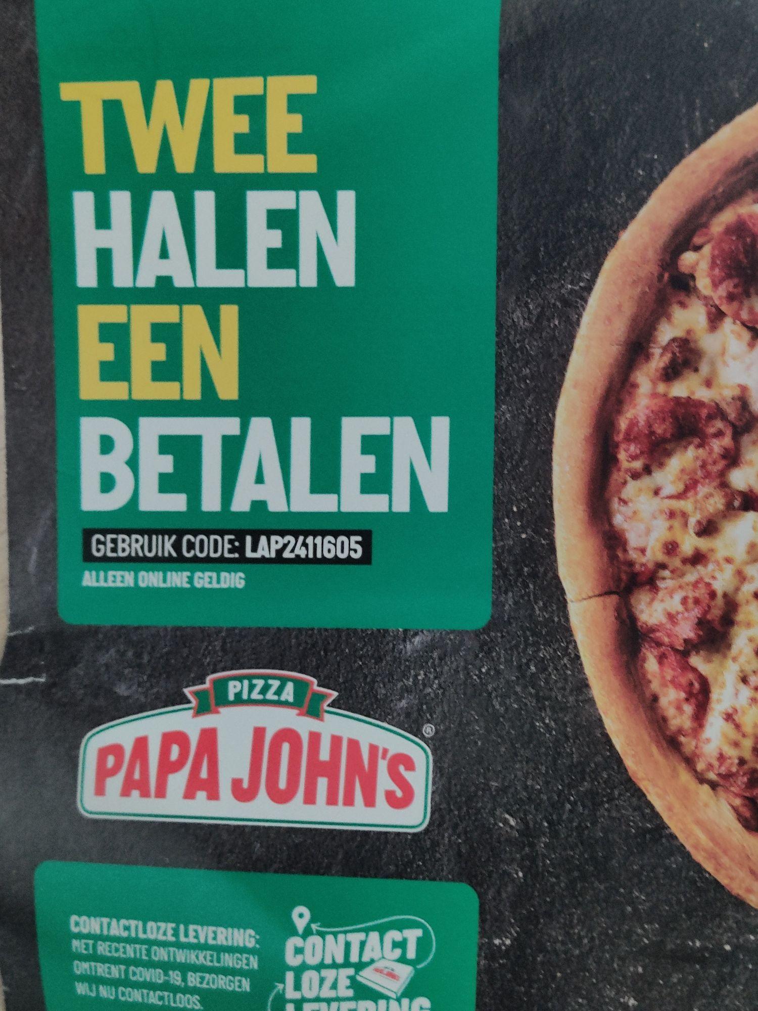 1+1 gratis Papa John's pizza