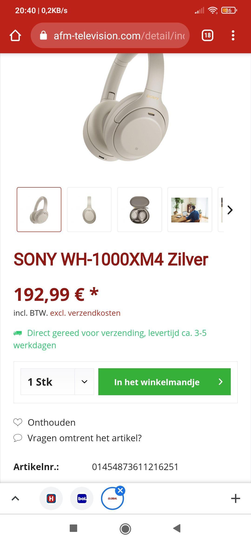 WH1000XM4 (Duitse webshop)