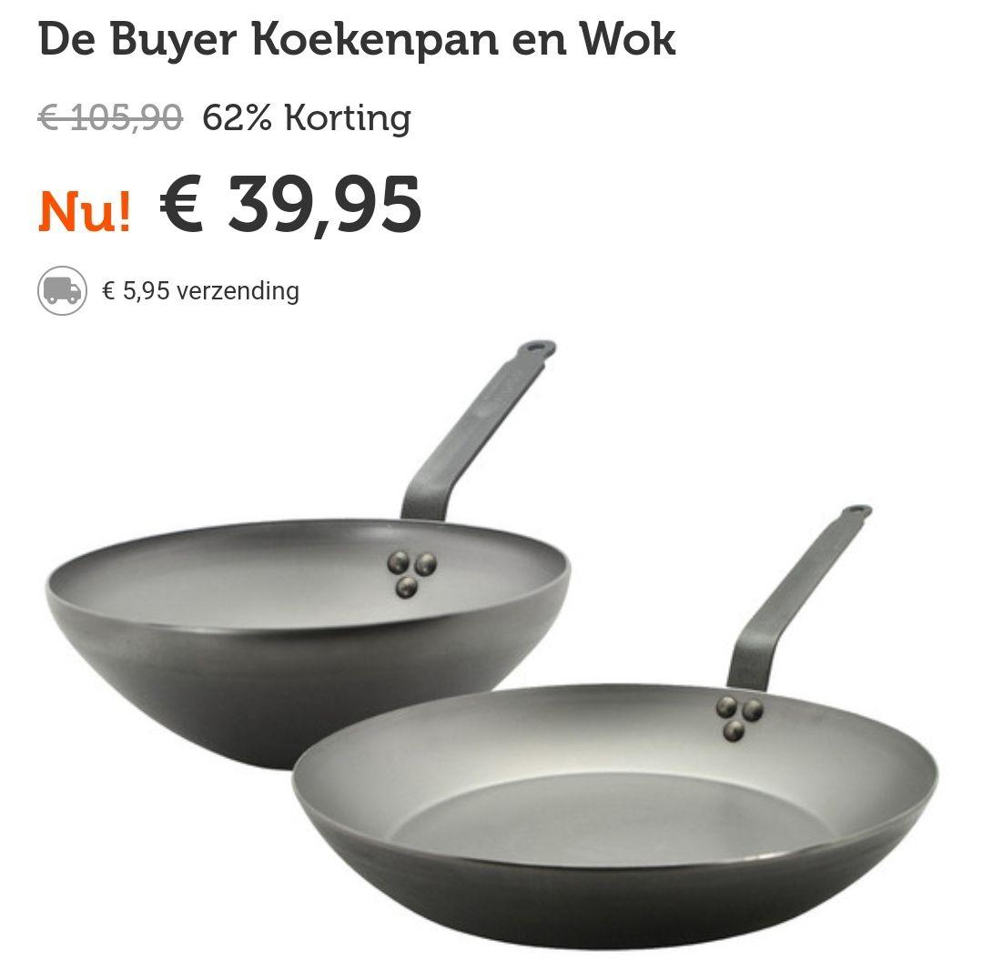De Buyer koekenpan en wok