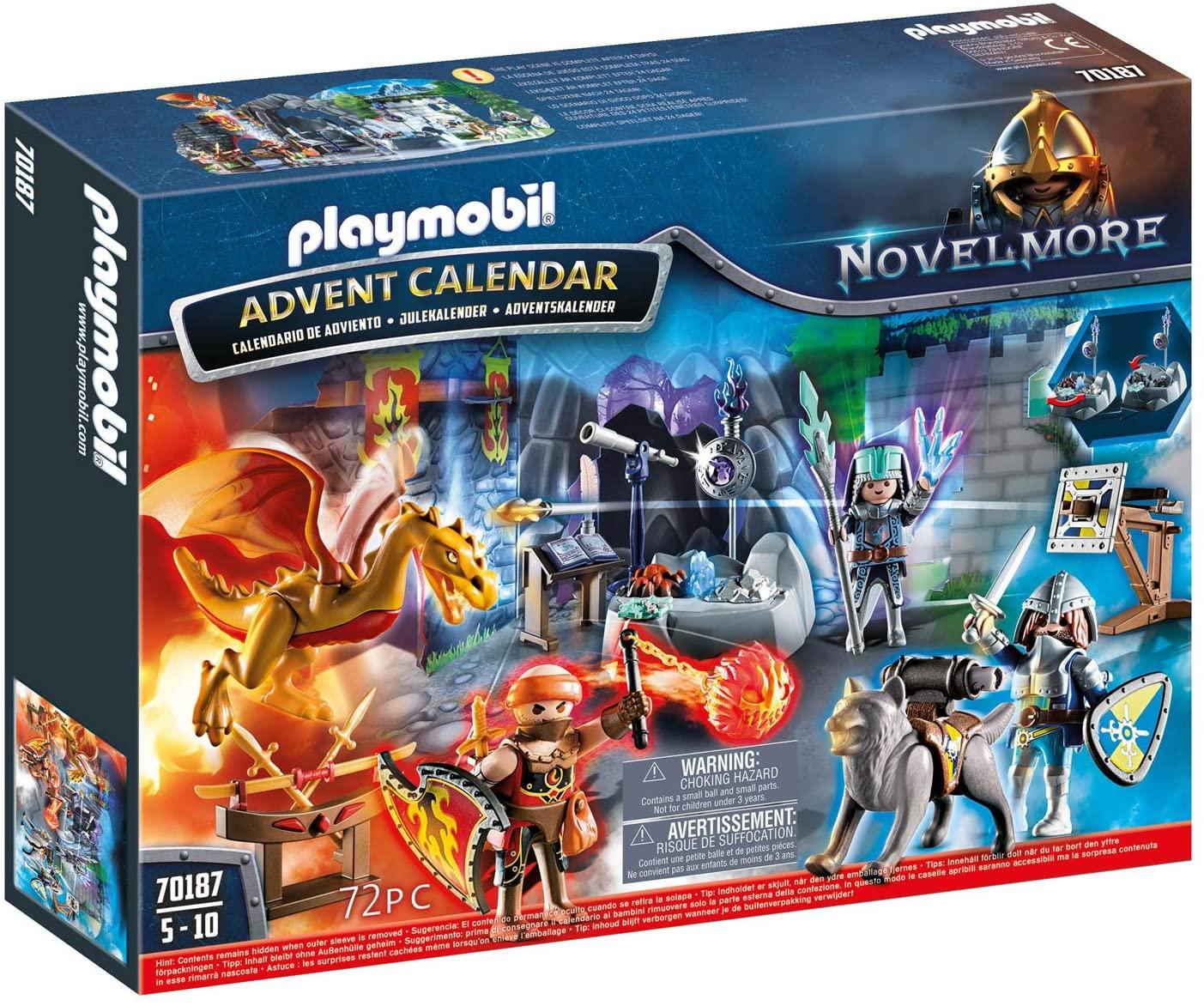 Playmobil Adventskalender 70187 Gevecht om de magische steen, voor kinderen van 5-10 jaar, kleurrijk, één maat
