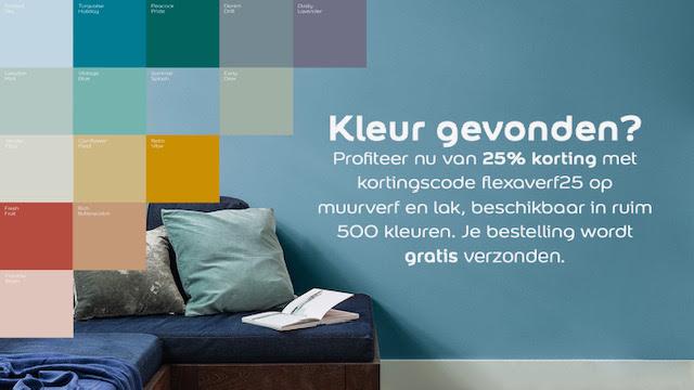 Flexa verf 25% korting + gratis verzending