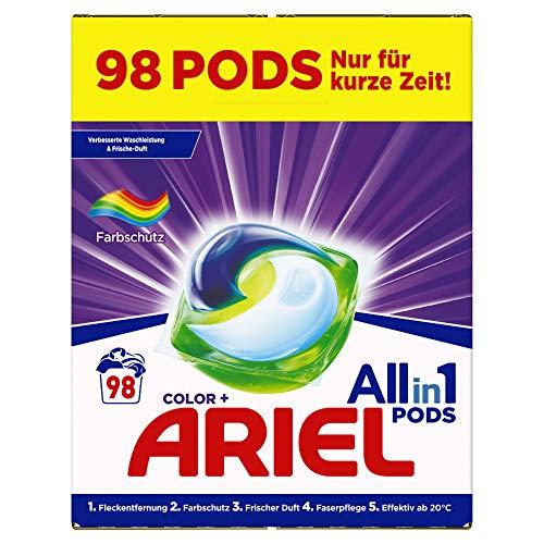 (Vernieuwde) Ariel Pods+ Wit & Kleur (98 stuks) (€0,26 per pod)