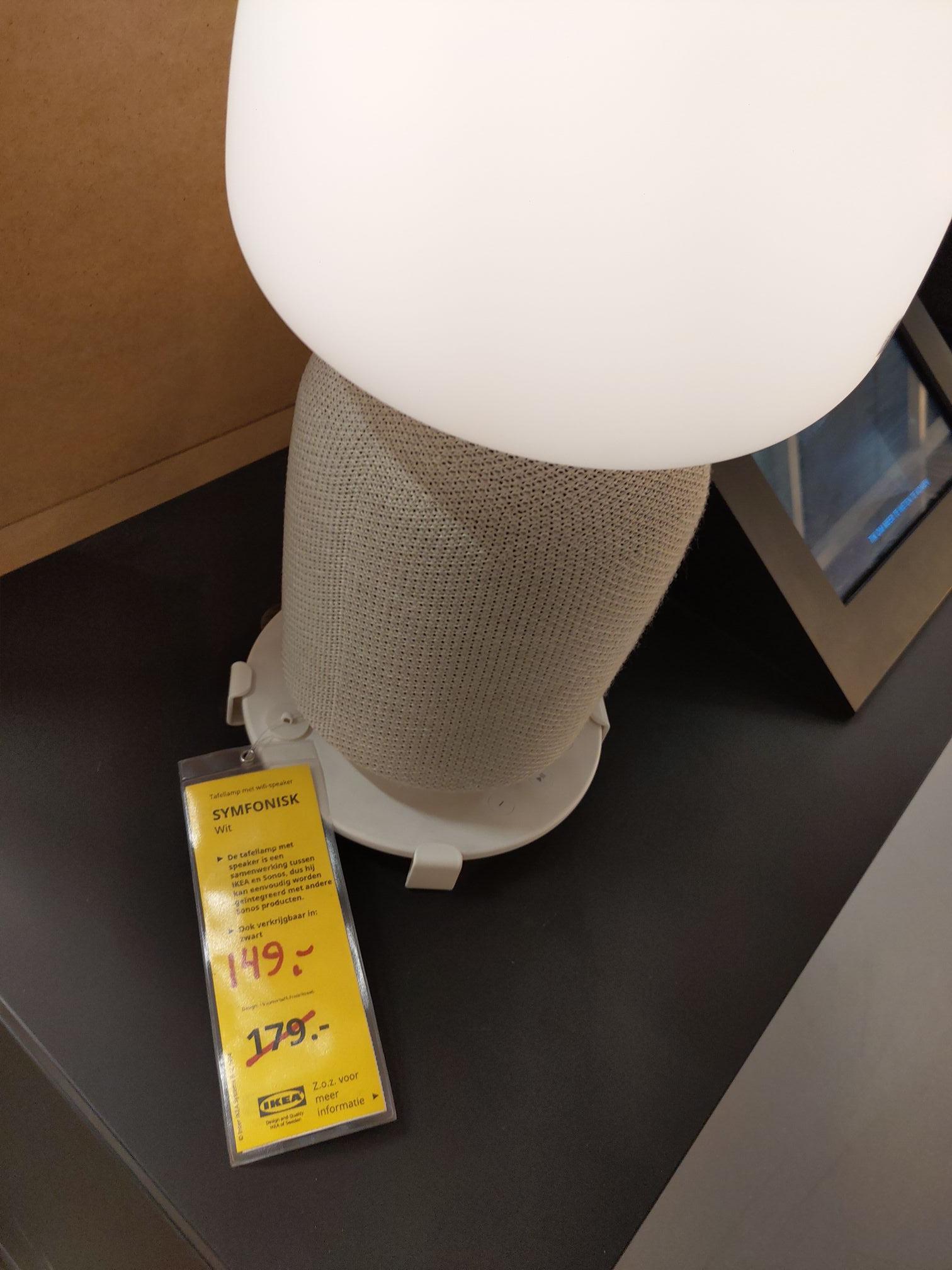 Ikea Symfonisk tafellamp speaker - zwart & wit