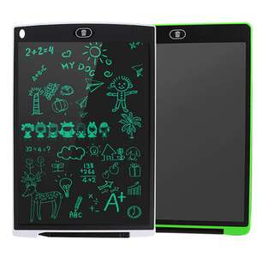 12 Inch 2 Pack LCD-schrijftablet 3 in 1 Muismat Liniaal Tekening Doodle