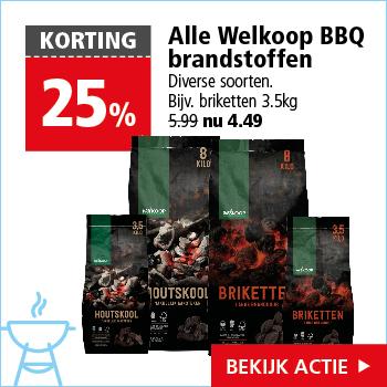 Alle Welkoop BBQ brandstoffen -25%