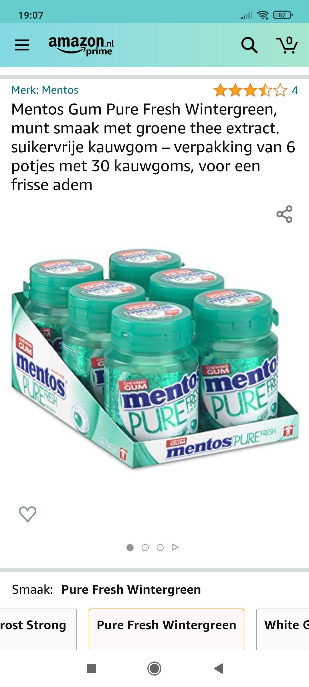 Mentos Fresh green 6-pak