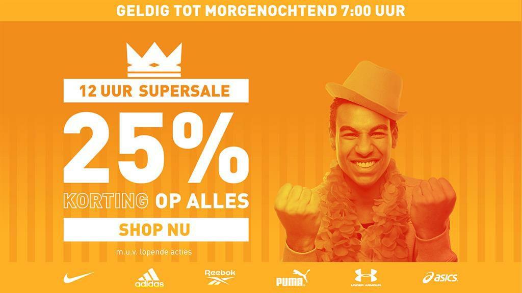 25% korting op alles bij Intersport / twinsport