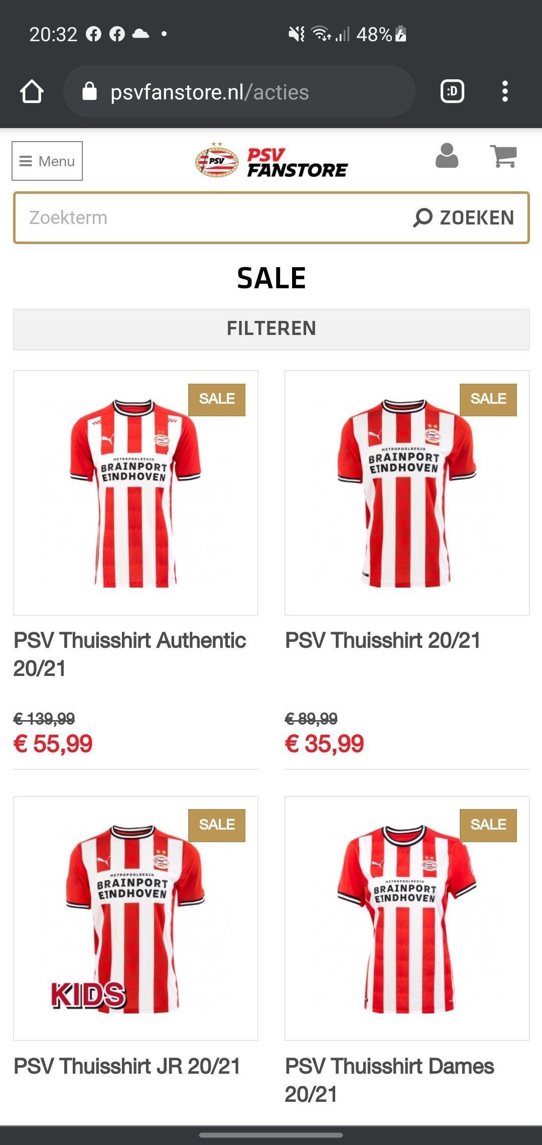 PSV End of season sale