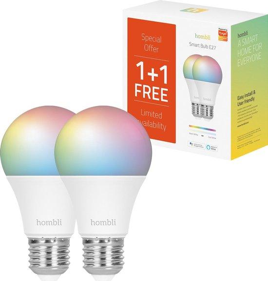 Hombli RGB / CCT slimme verlichting 2 lampen met wifi