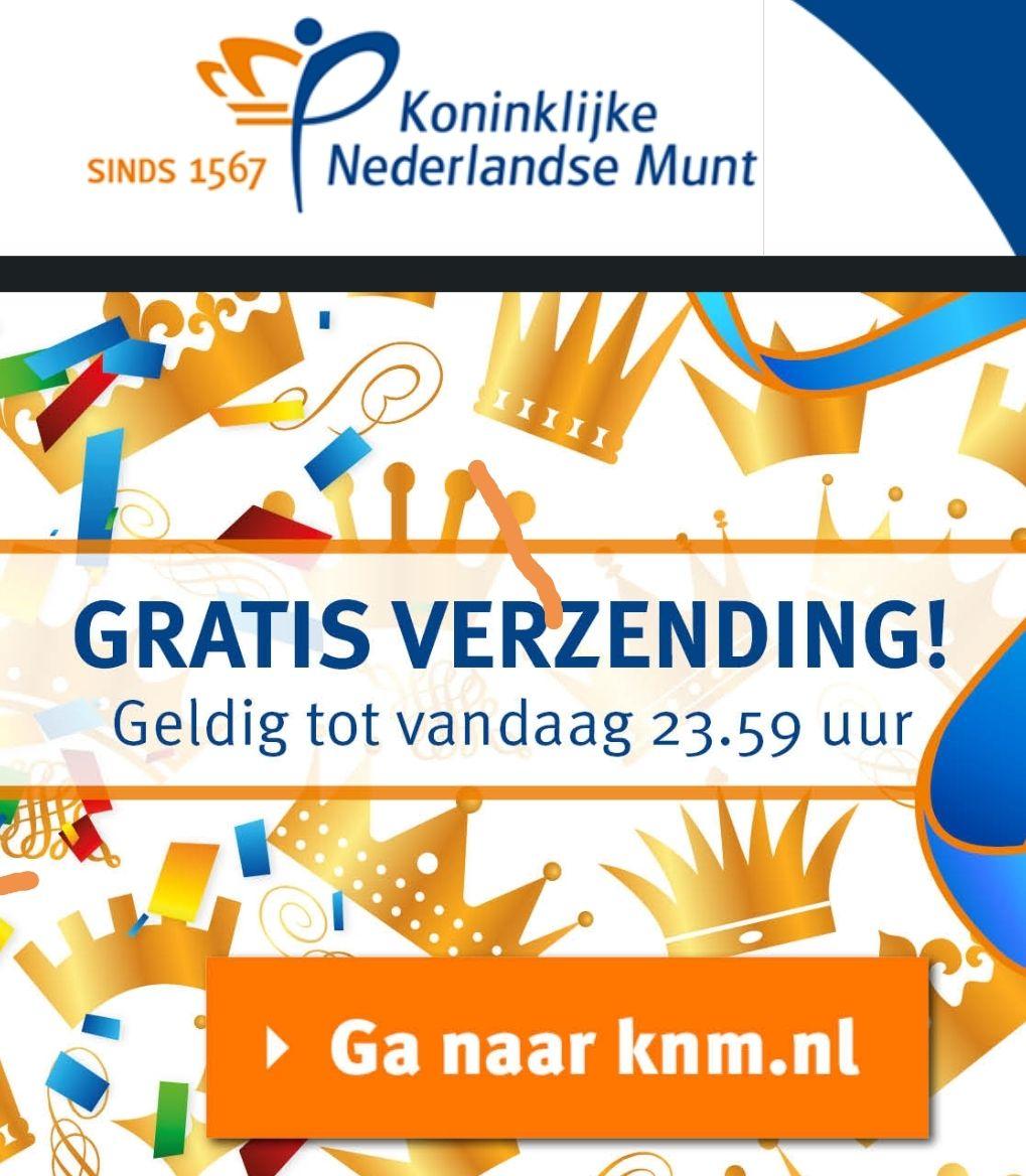 Gratis verzending tot 23:59 uur bij de Koninklijke Nederlandse Munt!