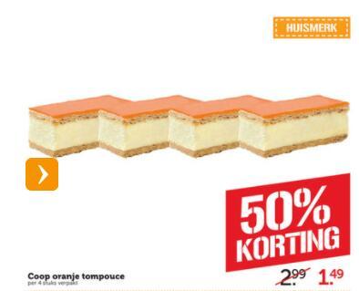 4 Oranje Tompouces €1,49 @ Coöp