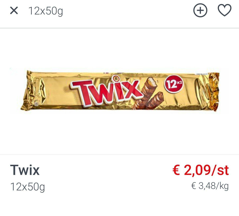 [GRENSDEAL BELGIË] 12 x 50g pack Twix bij Colruyt