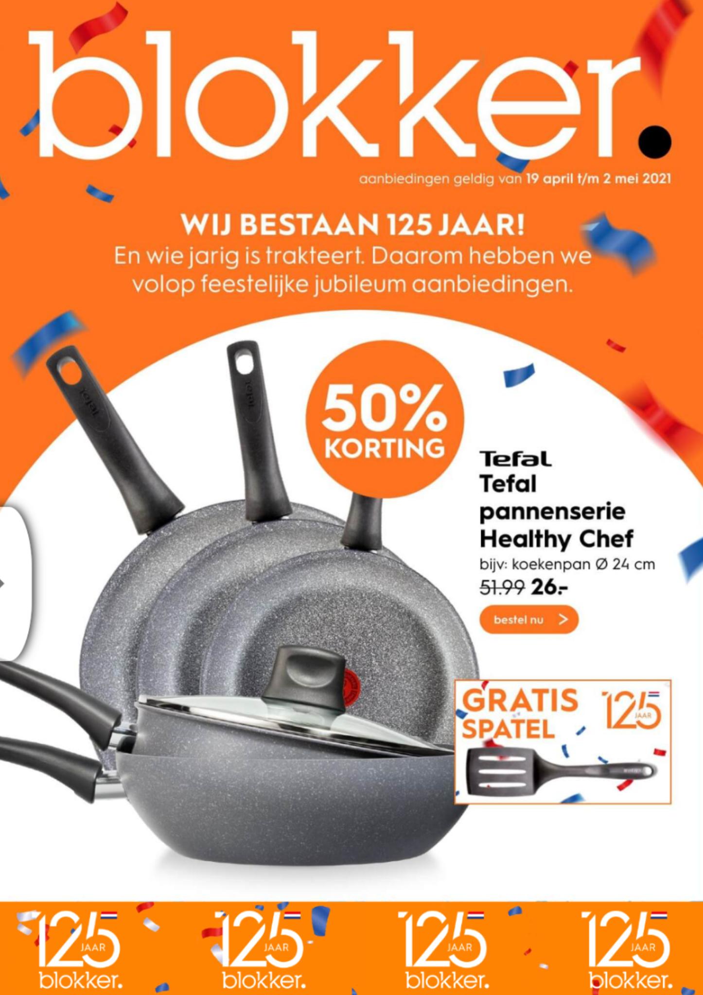 Korting op Tefal Healthy Chef pannen + gratis spatel