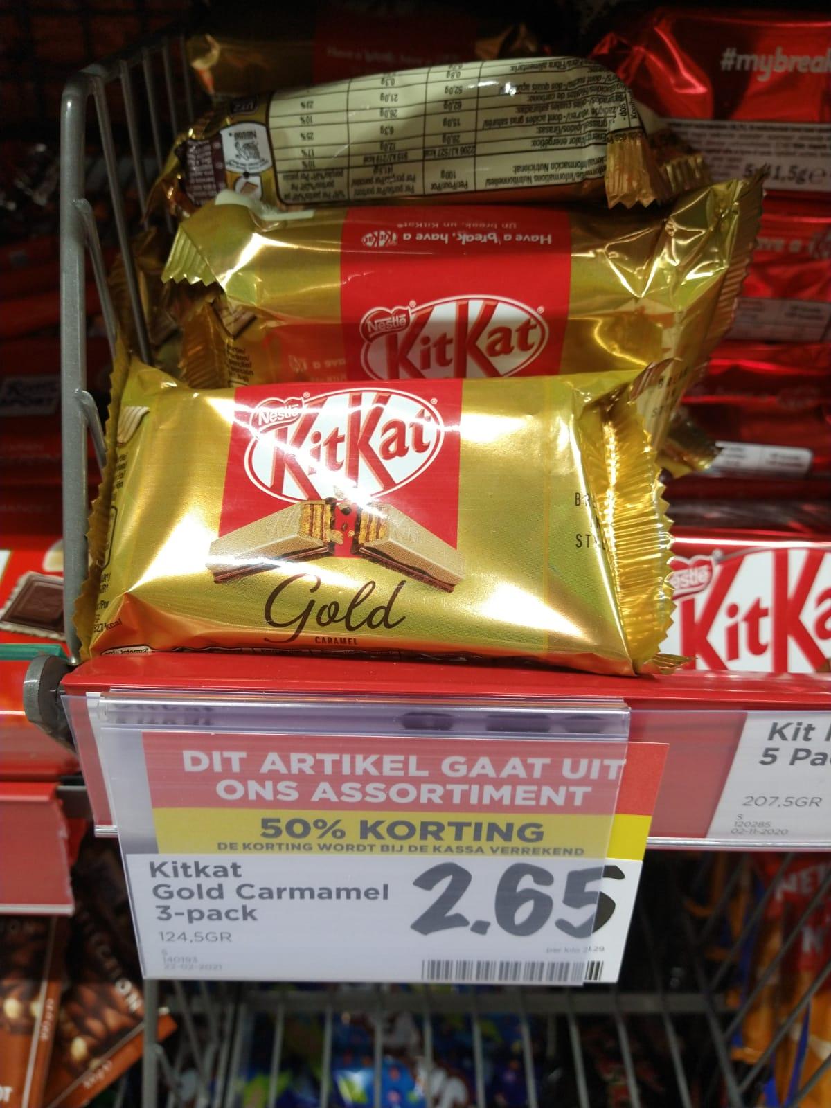 [Vomar - Castricum] KitKat Gold Caramel 3-pack