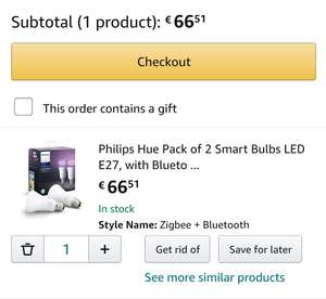 Philips Hue White and Color Ambiance Bluetooth E27 Duopack